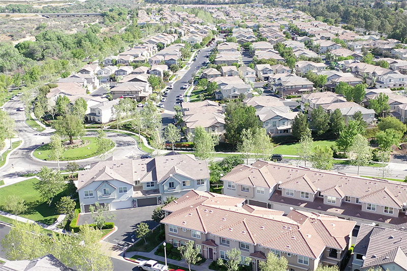 Aerial View of Creekside Community