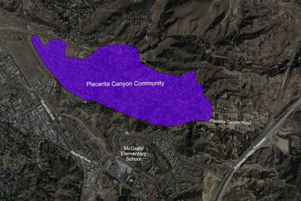 Placerita Canyon Map